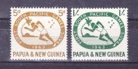PAPUA NEW GUINEA   1963   Sport - South Pacific Games    Y&T   # 54/5   , Cv  2,00    E  , ** M N H , V V F  V V F - Papua Nuova Guinea