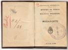 ARGENTINA 1950 PASSPORT - PASSEPORT - REISEPASS - PASAPORTE - REVENUES & VISAS - SEE SCANS !!! - Documents Historiques