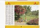 """Almanach Des PTT 1965 """"dans Le Verger / Partie De Pêche""""  Enfants, Vaches, Bulles, Moulinet, Panier, Valisette  OBERTHUR - Calendriers"""