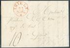 LAC de THIELT (type 11) le 23 novembre 1830 vers Gand.  Superbe - 7650