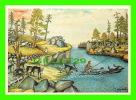 FINLAND - ANDREAS ALARIESTON LAPINKUVAT - THE SANI SLEDGE FLOATING ACROSS A LAKE - - Finlande