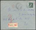 Lettre Recommandée Affr. Léopold III Obl. Sc Agence De BRUXELLES/BRUSSEL 62 * Du 24-11-1948 Vers Bruxelles.- 7665 - Postmark Collection
