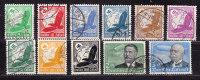 Satz Mi 529-39, Flugpostmarken, Gestempelt (35652) - Allemagne