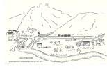 Cp 04 SISTERON HAUTERIVE Illustrée Base Alpes Plan Téléphone 48 LARAGNE GAP LA LASETTE DURANCE Train Chemin De Fer Silo - France