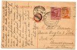 VERONA /  TOLENTINO -  29.3.1925 - Card_Cartolina  Michetti  Da 30 Cent. + 10 Leoni - 1900-44 Vittorio Emanuele III
