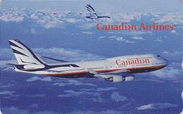 Télécarte Japon - Avion / CANADIAN AIRLINES & Oie Goose - JAPAN Phonecard CANADA - FLUGZEUG Telefonkarte Air Plane - 223 - Avions