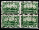 CANADA, 1935, USED. #215, KING GEORGE V  SILVER JUBILEE, Block Of 4 F Ine - Blocs-feuillets