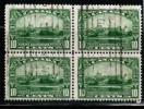 CANADA, 1935, USED. #215, KING GEORGE V  SILVER JUBILEE, Block Of 4 F Ine - Blocks & Sheetlets