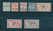 colonie maroc timbres de 1902/03  n�11 a 17 sans gomme ou gomme us�e (cote 425�)
