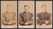Photographie Godard - Granville - Coutances - Militaire 3 Photos - Unclassified