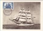 Carte-Maximum FRANCE N° Yvert 1035 (La CAPRICIEUSE) Obl Sp 1er Jour - Maximumkaarten