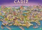 CARTES GÉOGRAPHIQUES-ANDALOUSIE-CADIZ-édition: PAJARES 1553- Cpm, Neuve - Cartes Géographiques