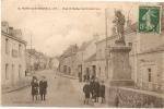 VENTE FLASH - Au 1er Enchérisseur: Carte Ancienne De NORT Sur Erdre - Rue Et Statue SAINT-GEORGES - Nort Sur Erdre