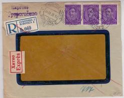 YOUGOSLAVIE - 1935 - ENVELOPPE COMMERCIALE EXPRES De SUBOTICA Pour HALLE (CACHET TELEGRAPHIQUE Au DOS) - - 1931-1941 Kingdom Of Yugoslavia