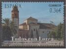 """ESPAÑA. SELLO USADO AÑO 2012. SERIE """"TODOS CON LORCA"""". SANTUARIO DE LA VIRGEN DE LAS  HUERTAS - 1931-Today: 2nd Rep - ... Juan Carlos I"""