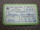 Carte Pass Hôtel Condé Duque à Madrid España Espagne Sala De  Bingo: Fecha émission Caduc: Quatre 10 Au Cinq 10 1 - Otros