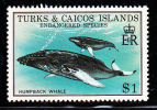 Turks & Caicos MNH Scott #384 $1 Humpback Whale - Endangered Species - Turks & Caicos (I. Turques Et Caïques)
