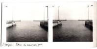 PHOTO STEREO : SAINT-NAZAIRE ENTREE DU NOUVEAU PORT 44 LOIRE-ATLANTIQUE - Stereoscopio