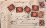 POLAND - RECO LETTRE 1923 MARGONIN - MEMMINGEN/ALLEMAGNE - 1919-1939 República