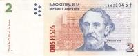 BILLETE DE ARGENTINA DE 2 PESOS  (BANKNOTE) - Argentina