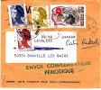 PNU 2235+2551 Surtaxé+2177+2234 Journal Saint-Lo Donville Poste Restante (demi Taxe) Peu Commun - Journaux