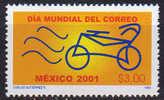 Mexique. Jour International Du Courrier. Un T-p *** Du Mexique 2001 ( Cycle) - Wielrennen