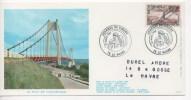 FRANCE - Carte Maximum Grand Format  - Journée Du Timbre 1982 - LE HAVRE  - Le Pont De Tancarville - Cachet Commémoratif - Cartes-Maximum