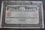 Compagnie Minière De Santiago Y Anexas Mexique -siège Social à Paris XV Mars 1925 Titre /action 100 Fr. Porteur - Mineral