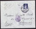 1940  Lettre Pour L'Egypte  Censure égyptienne - Briefe U. Dokumente