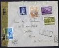 1944  Lettre Par Avion  Pour Les USA   Double Censure: égyptienne Et Américaine - Briefe U. Dokumente