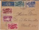 GUINEE - 1940 - ENVELOPPE Par AVION De CONAKRY Pour MARSEILLE Avec CENSURE COMMISSION C0 - Marcophilie (Lettres)