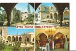 CP, Chypre, Monastère Ayia Napa, 4 Vues, 1983, Voyagée - Chypre