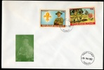 Tchad IMPERFORATED Stamps Scouting On 2 Fdc 1972 High Catvalue. - Scoutismo