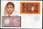 Numislettre - (Timbres + Billet) - Sri Lanka - 1986 - Sri Lanka (Ceylon) (1948-...)