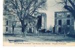 84- LA TOUR D'AIGUES - Les Ruines Du Chateau- Façade Principale -  Cpsm Bleue- Edit Vve Guiran-Tabacs- Paypal Sans Frais - La Tour D'Aigues
