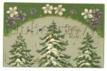 Noël (Fêtes-Voeux) : 3 Sapins De Noêl En  1907 (cp Relief). - Unclassified