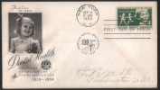 US UNITED STATES AMERICA U.S 1959 FIRST DAY COVER FDC DENTAL HEALTH AMERICAN ASSOCIATION NEW YORK - United States