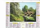 """Almanach Des PTT 1973  """"Saint-Germain De Livet (Normandie) / Costumes à Quimperlé (Finistère)"""" Coiffes   JEAN LAVIGNE - Calendriers"""