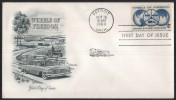 US UNITED STATES AMERICA U.S 1960 FIRST DAY COVER FDC WHEELS OF FREEDOM DETROIT - United States