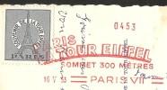 PARIS Tour Eiffel Vignette 1953 - Tour Eiffel
