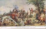 Postal Bataille De FONTENOY (prés De Tournai) 1745, Pintura Vernet - Otras Guerras