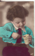 99-Tematica Bambini: Bimbo Che Mangia Un Gelato.Piccolo Formato-nuova - Portraits