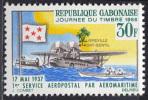GABON 1966 MNH** - Stamp's Day - Mi 259, YT 201 - Post
