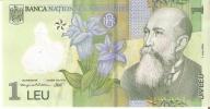 BILLETE DE RUMANIA DE 1 LEU  DEL AÑO 2005 (BANKNOTE) POLIMERO - Rumania