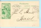 SCHWEIZ SWITZERLAND SUISSE - Ganzsache Postal Used - UPU 5 - 17.-18.08.1900 Sies - Basel  (21085) - Entiers Postaux