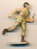 Figurine STARLUX (France) : Soldat En Action Avec Pistolet-mitrailleur, Militaire, Armée De Terre - Starlux