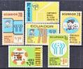 Ecuador 971-3 C627-9  *  SOCCER  WORLD CUP - Ecuador