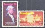 Ecuador C 589-90  * AMERICAN  BICENTENNIAL - Ecuador
