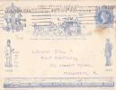 7109# GRANDE BRETAGNE DEVANT ENTIER JUBILEE FRONT STATIONERY GANZSACHE UNIFORM PENNY POSTAGE TRAIN VOITURE FACTEUR - Stamped Stationery, Airletters & Aerogrammes