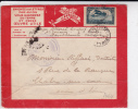 1924 - ENVELOPPE FM Du 1° RGT De ZOUAVES Par AVION De CASABLANCA - LIGNES AERIENNES LATECOERE FRANCE - MAROC - ALGERIE - Poststempel (Briefe)